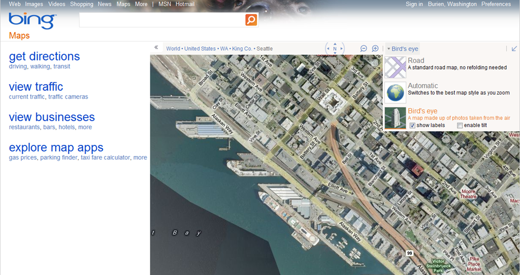 Another new look for Bing Maps LiveSidenet – Map Bing Maps