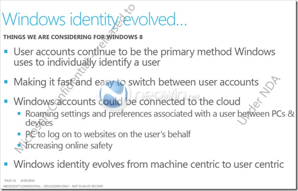 Windows 8 - Windows identity evolved