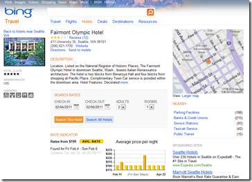 Bing Travel Update: improved destinations and hotel pages