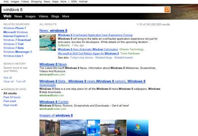 Bing turns on HTML5 UI