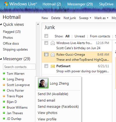 hotmail live messenger