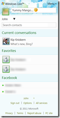 Windows Live Messenger Mobile Web