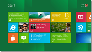 Windows 8 Start Screen