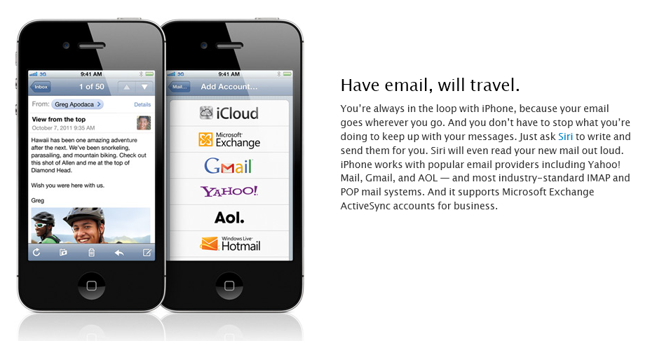 hotmail app for iphone hotmail featured in ios5 mail liveside net 9468