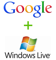 Google plus Windows Live