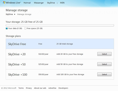 skydrive paid english