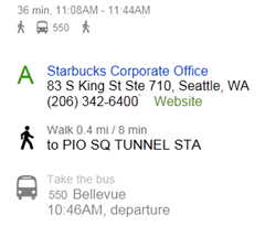 bing maps bus routes