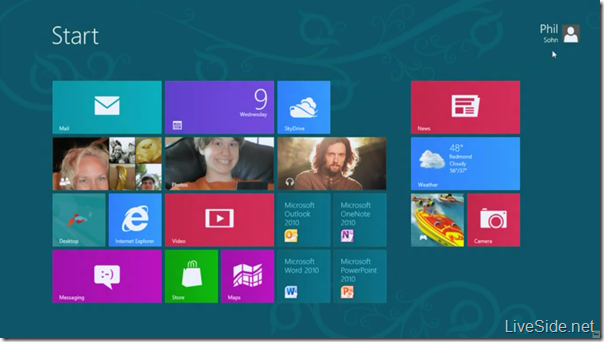 New Windows 8 app tiles