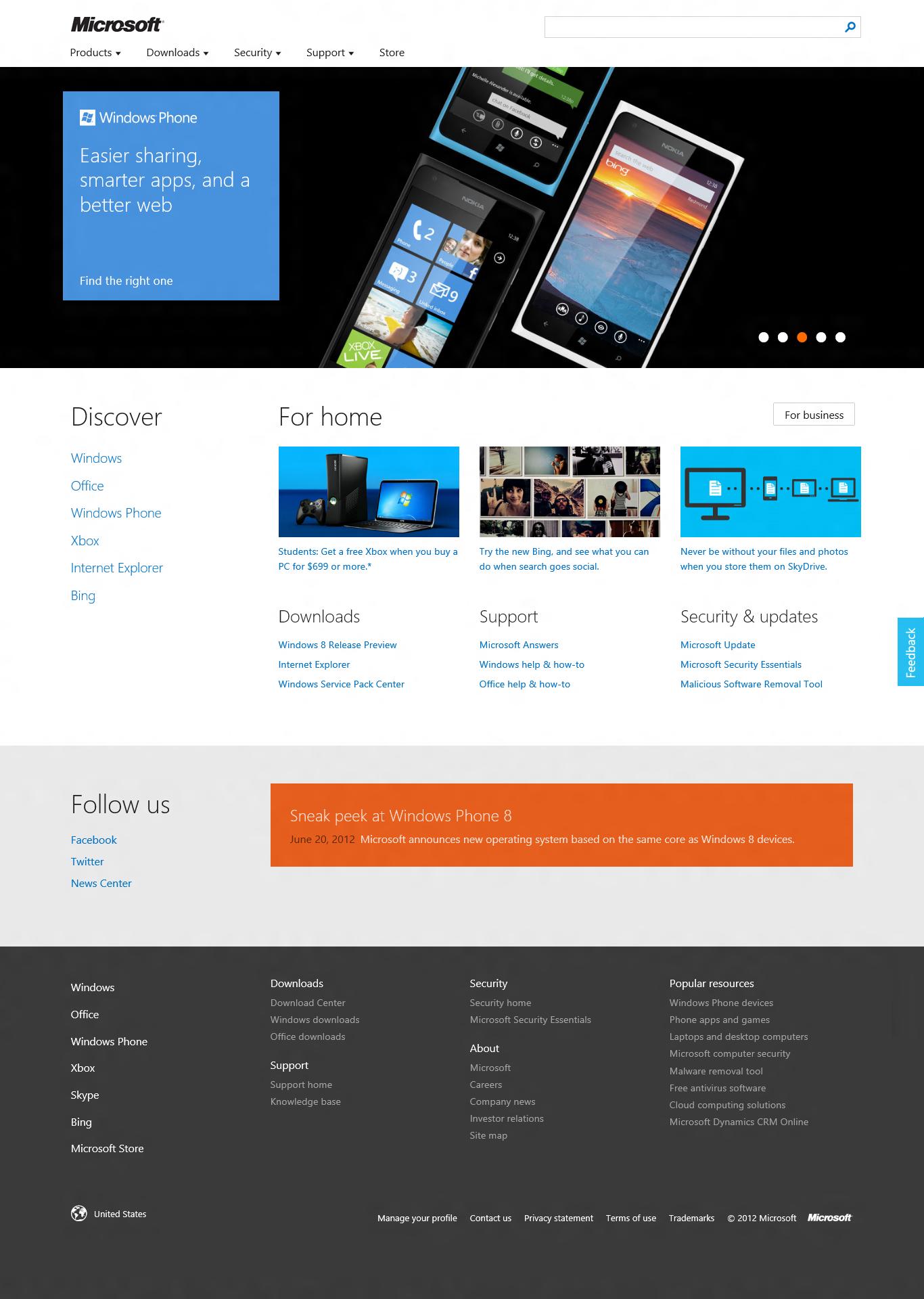 Microsoft Com1 Microsoft Way Redmond: Microsoft.com Website Gets A New Design