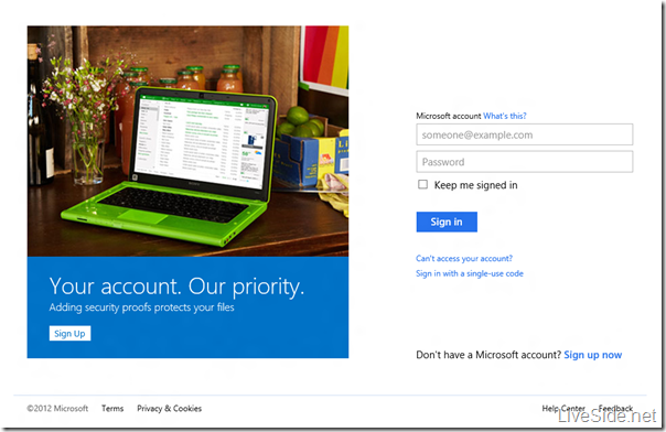 Microsoft account - Login