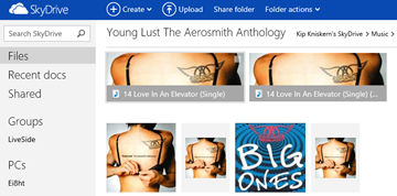 skydrive album thumbnails