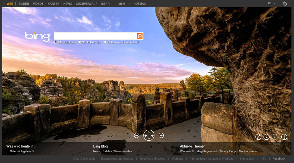 Bing Shows Off First 360° Image Home Page Around The World