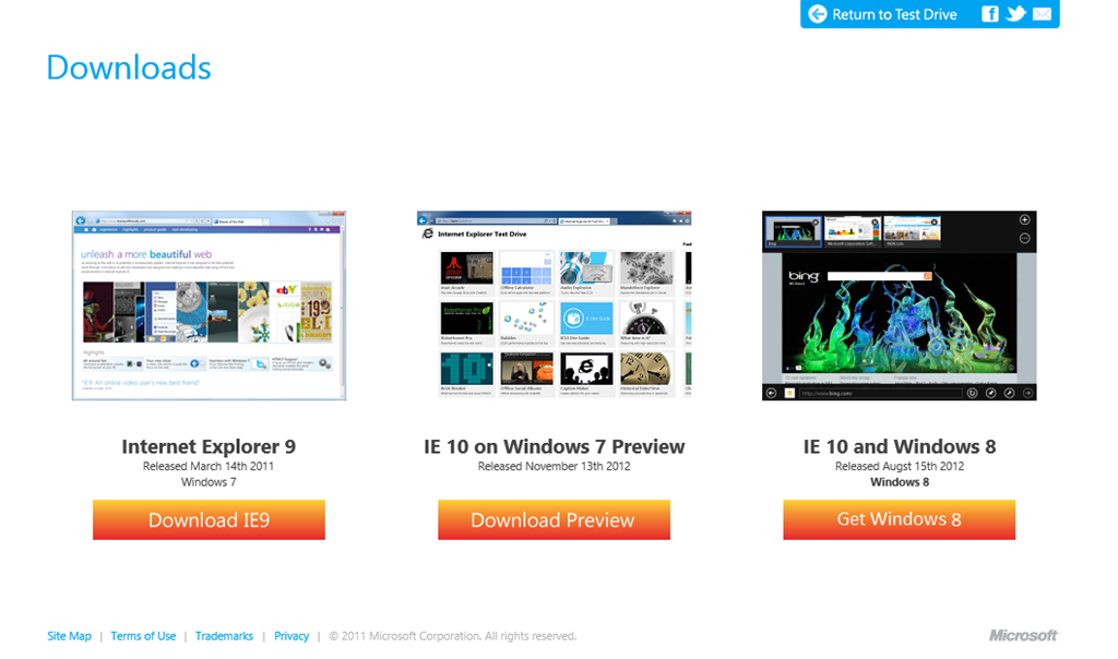 Microsoft releases Internet Explorer 10 for Windows 7 Preview