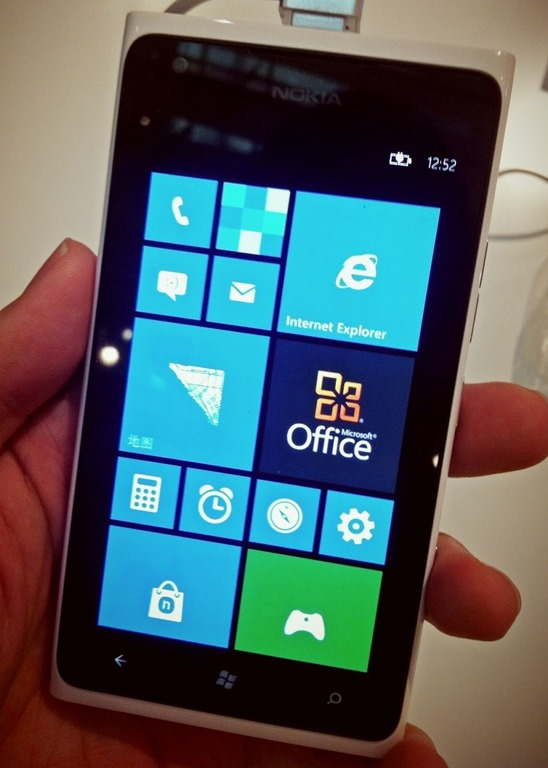 See Windows Phone 7 on Nokia Lumia 900