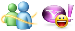 Windows Live and Yahoo Messenger