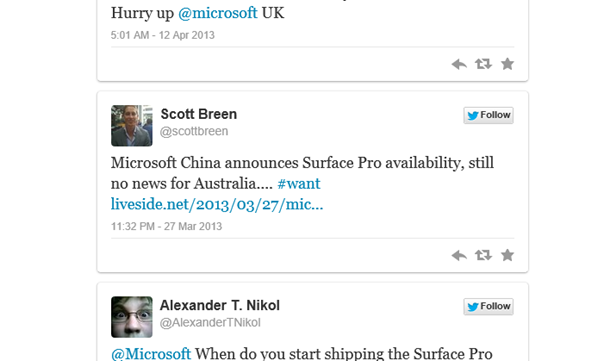 surface tweet