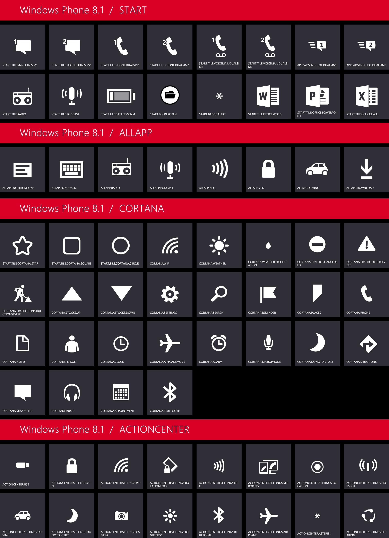windows phone 81 icons provide clues to cortana dual